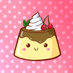 Cute Food- Pudding by PPGxRRB-FAN