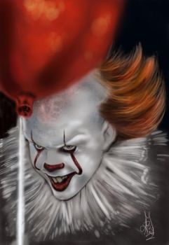 PENNYWISE THE CLOWN ,IT by ARTIEFISHEL79