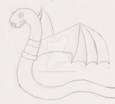 Sketchtober day 30- Bat Snake by Love-And-Cyanide88