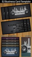 Dj Business Card Template by Hotpindesigns