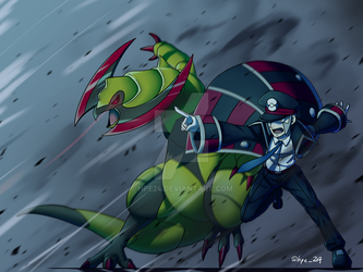 Subway Boss Ingo and Haxorus by HPE24