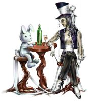 MadHatter and a march hare by Amales