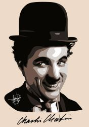 Charlie Chaplin (Adobe Photoshop) by HarkinDeximire