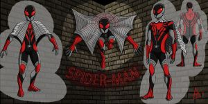 Spider-Man Redesign by toekneearrows