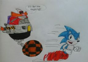 Robotnik Chases Sonic by JQroxks21
