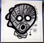 Scream Now Zentangle by mintdawn
