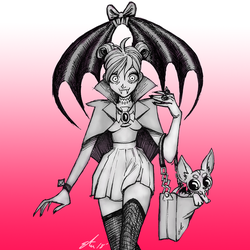 'Expensive' Vampire by lizzicusart