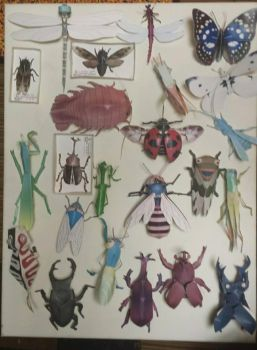 Papercraft Insects by galaxy5111