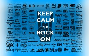 Keep Calm, Rock On Wallpaper by tazerguy