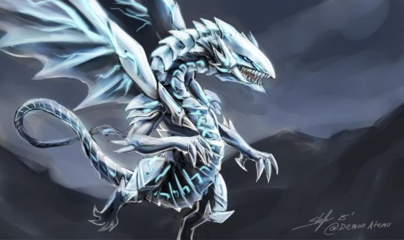 Yugioh 2016 movie - blue eyes white dragon by slifertheskydragon