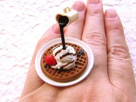 Waffles Cream Chocolate Ring by souzoucreations