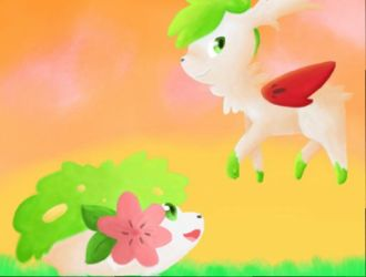 Shaymin painting by SaffyBoo
