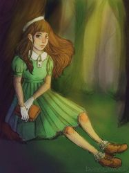 Girl in forest~ by bee-yu