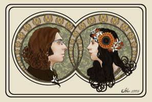 Art Nouveau Wedding Portraits by hever