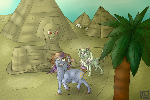Wandering Through the Sands by thelonedragonwolf