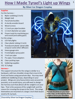 How I made Tyrael's Light up Wings - Page 1 by SilverIceDragon1
