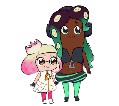 Pop Team Off the Hook by otter-faerie