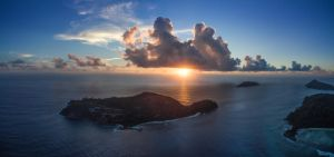 Seychelles, sunset, height 200 meters. by fly10