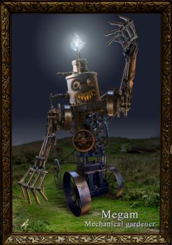 Megam the mechanical gardener by Zilverbergelf