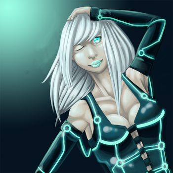 Tron Girl by BlueRodent