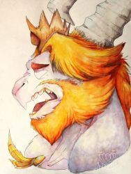 Watercolor Asgore by T0XllC