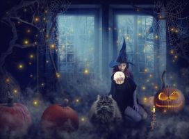 Halloween night by LenaSunny