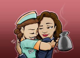 Agent Carter and Angie by lazytigerart