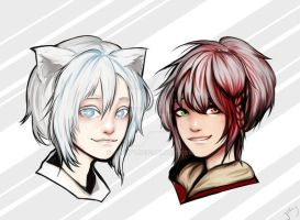 Commission - Shiro and Agito by Jerlyy