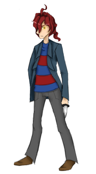 Alfendi Layton- rough sketch and colour by Gameaddict1234