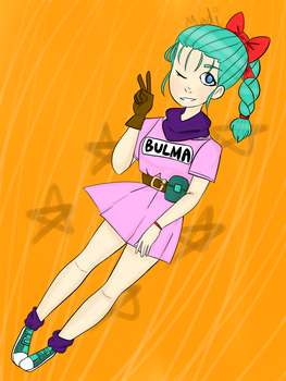 Bulma Baby by Citty-Loves-Cupcakes