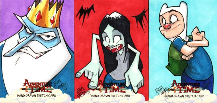 Adventure Time Sketch Cards 3 of 3 (Artist Proofs) by Bloodzilla-Billy