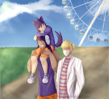 A relaxing stroll with them by CuteMari-chan