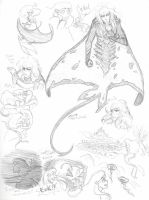 Labyrinth Under the Sea- rough sketches by Kiyomi-chan16