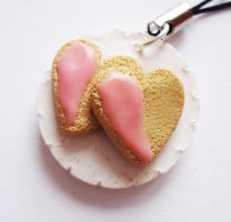 Heart Cookies on Plate by FrozenNote