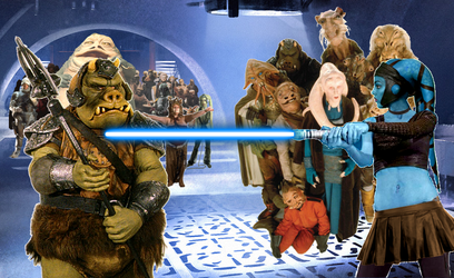 Aayla Secura enters Jabba's Palace by neo-sunglasses