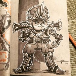 Steampunk Inktober - Day 25 by 47ness