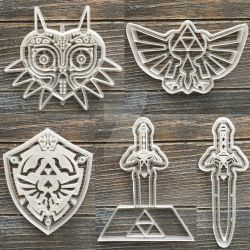 Zelda Cookie Cutters by Xaveric