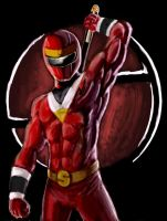 red alien ranger by vubees