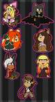 2017 Halloween Chibi Batch 1 by TwistedDisaster