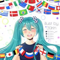 Fun with flags-Hatsune miku edition by 39rin