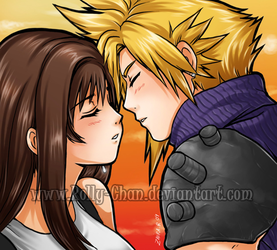 Cloud x Tifa: kiss by Rolly-Chan