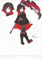 Ruby Rose (RWBY) by Bumblebee358