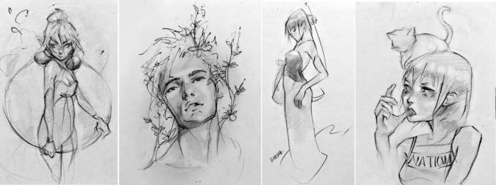 Daily Sketch Compilation 2 by Amrao