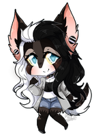 Pixel chibis- COMMISSION for Feroojaws 1/3 by SaltyLen