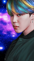 Jimin Smudge Painting by KpopGurl