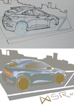 Car sketch comparison by IRIDYSCENZIA