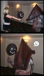 Pyramid Head - Mr. Skittles by peachiekeenie
