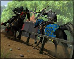 Jousting by FreyrStrongart