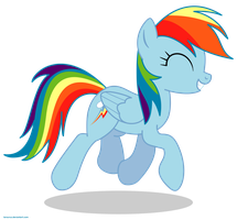 Happy Rainbow Dash - PNG by Larsurus