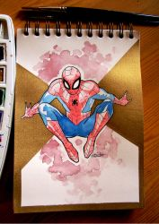 Spiderman fanart by middleofadream